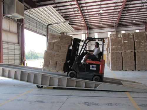 forklift loading be green