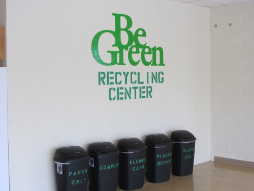 recycling containers be green
